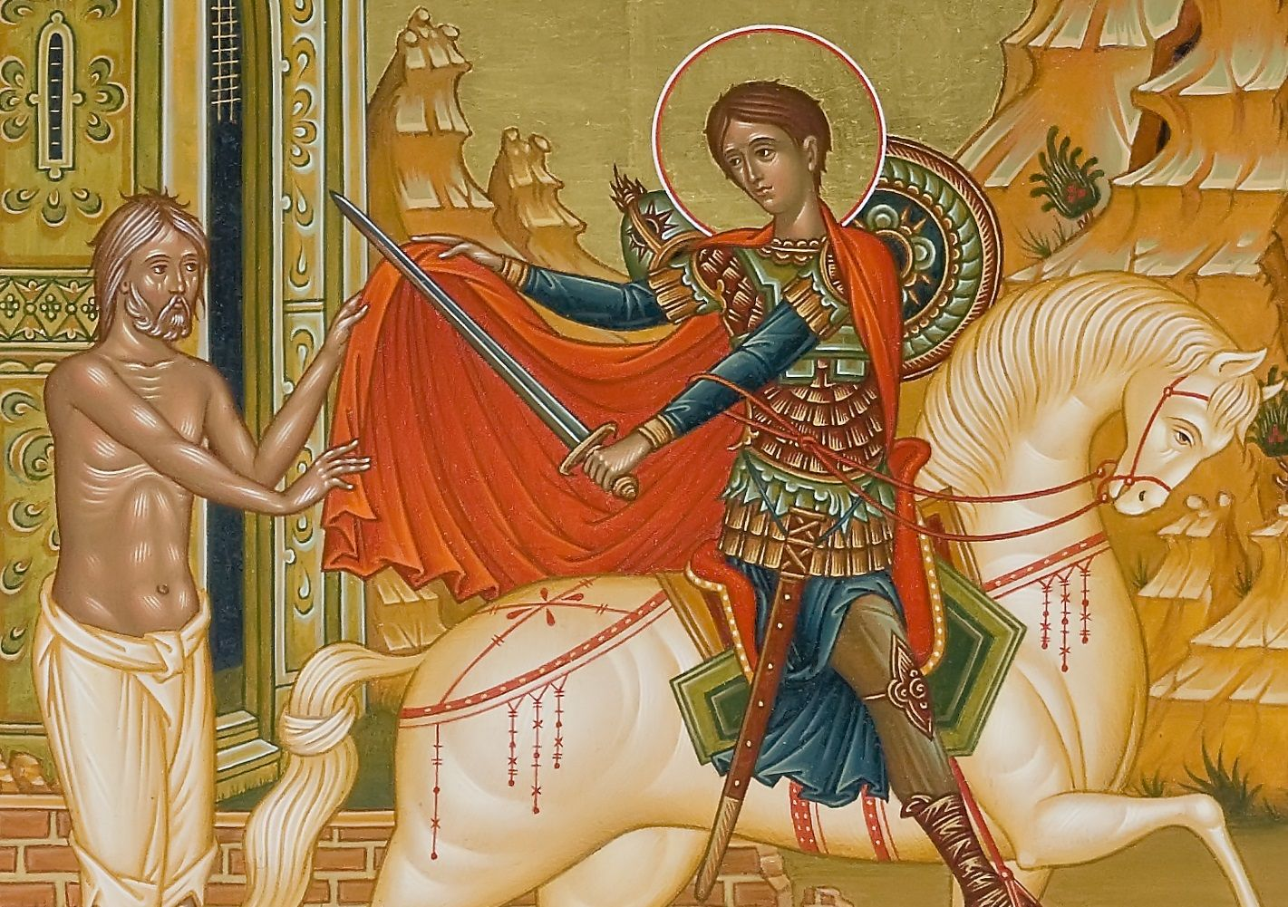 St Martin of Tours shares half of his cloak